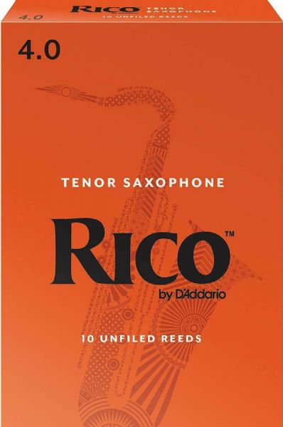 Rico 4.0 Strength Reeds for Tenor Sax (Pack of 10) - RKA1040